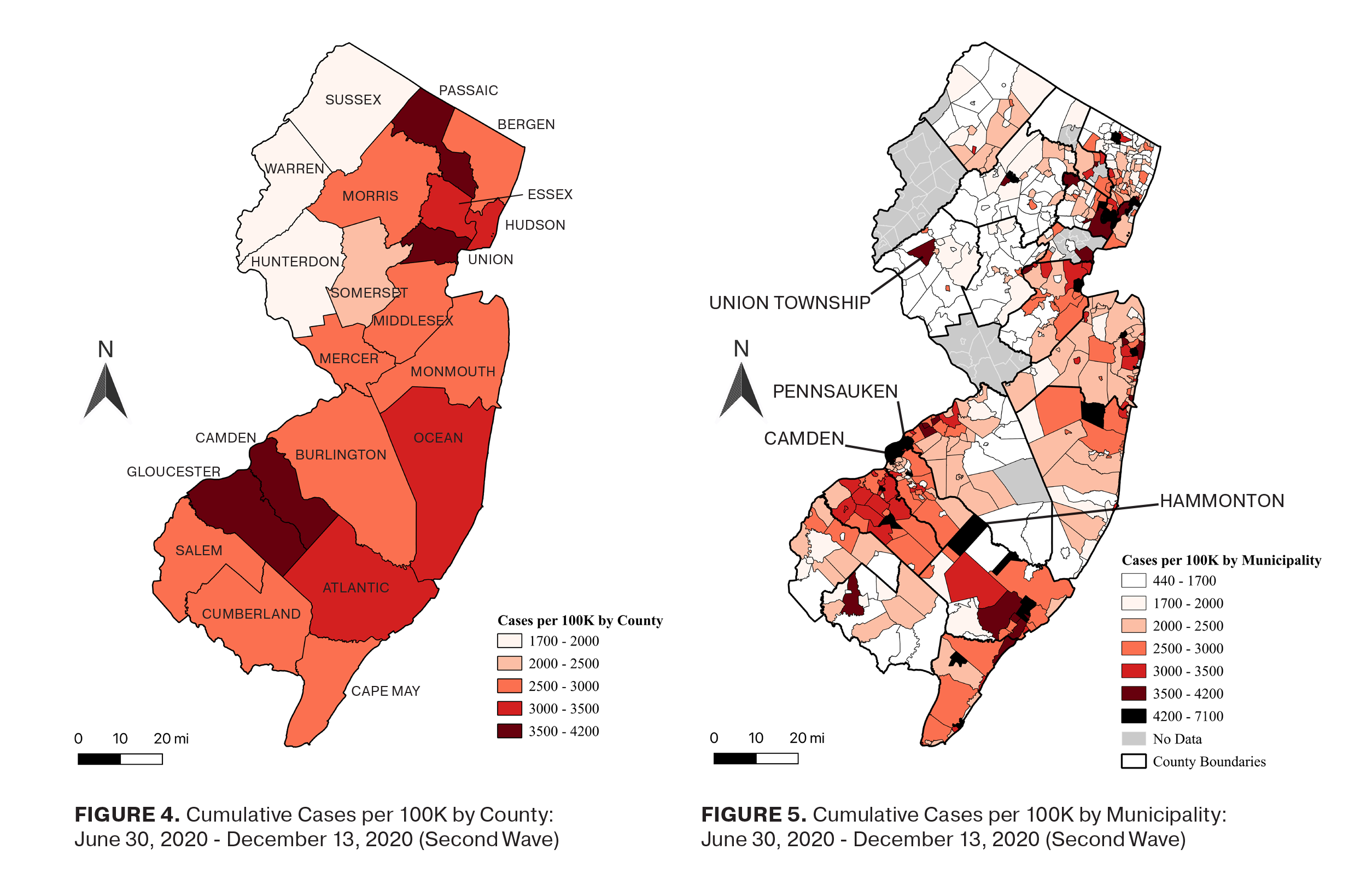 Municipal Variation in COVID-19 Case Rates in New Jersey